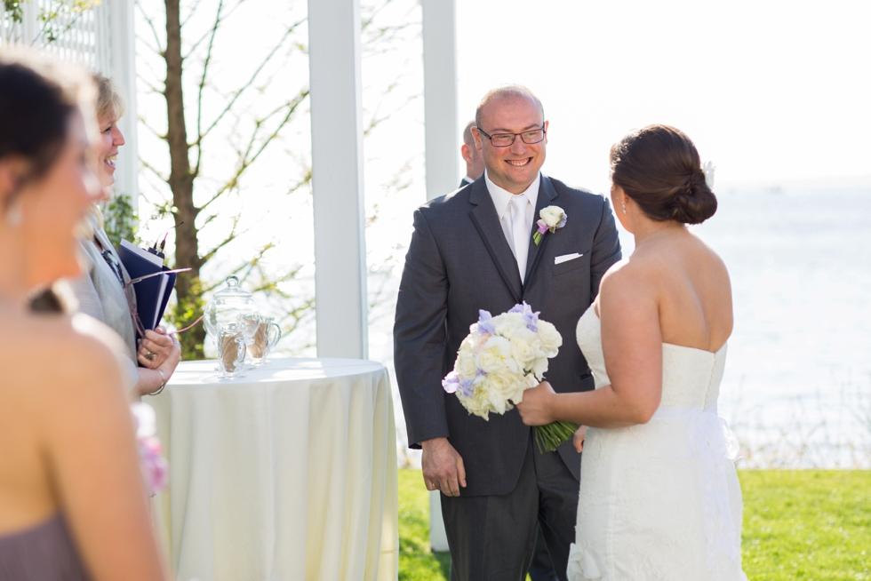 Chesapeake Bay Beach Club outdoor ceremony - Associate Annapolis Wedding