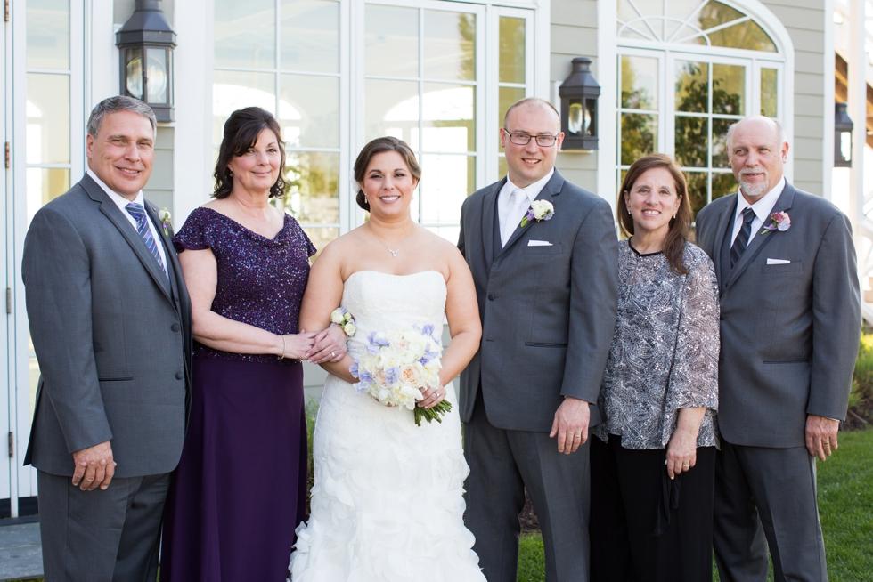 Chesapeake Bay Beach Club Family Formals - Associate Annapolis Wedding