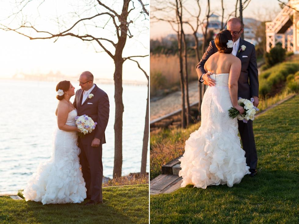 Chesapeake Bay Beach Club Sunset - Associate Maryland Wedding