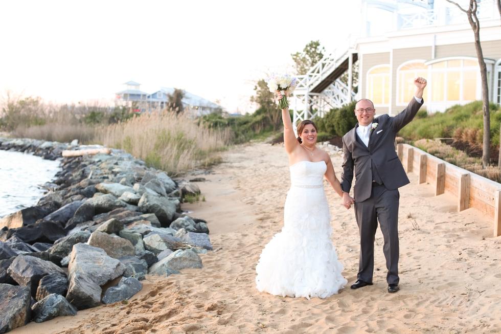 Associate Maryland Beach Wedding - Bay Beach Club Venue