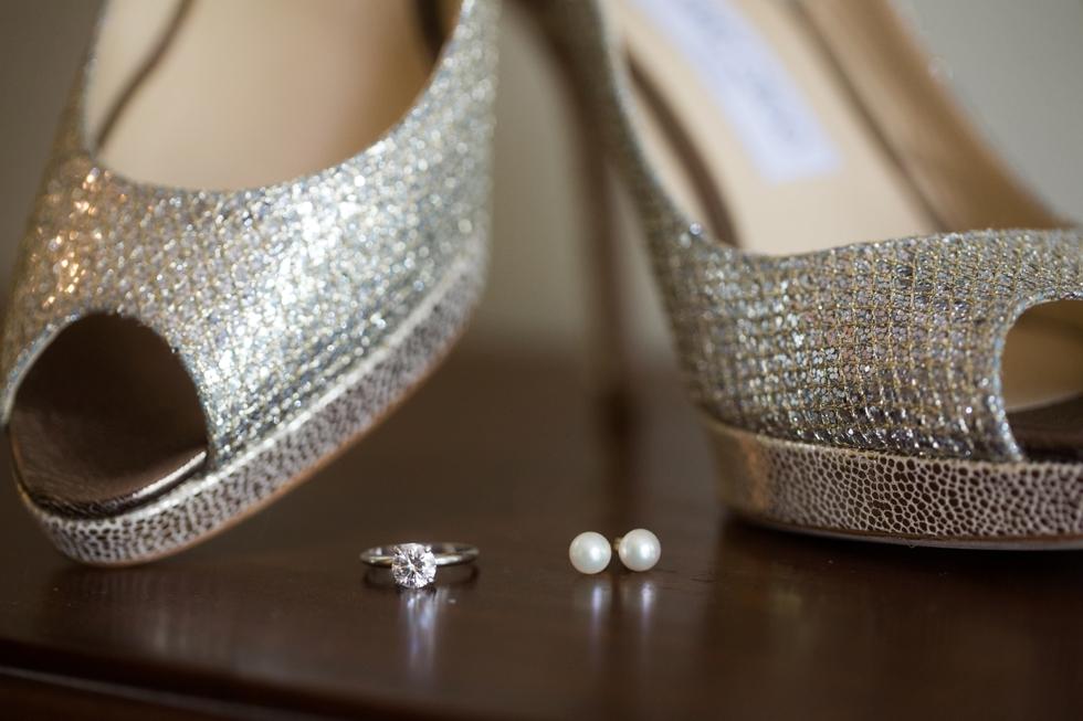 Crofton Maryland wedding - Liljenquist & Beckstead - Jimmy Choo bridal shoe
