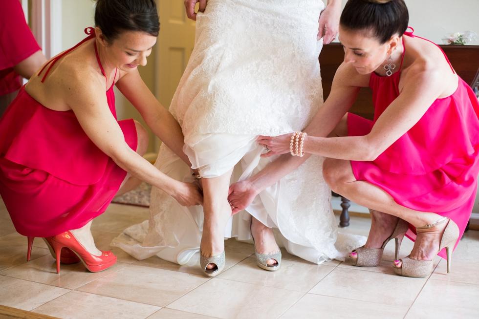 Annapolis Maryland wedding - Amsale Nouvelle - Jimmy Choo bridal