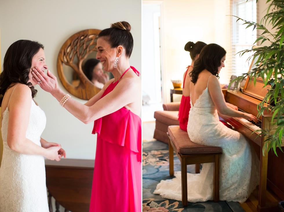 Annapolis Maryland piano wedding - Amsale Nouvelle