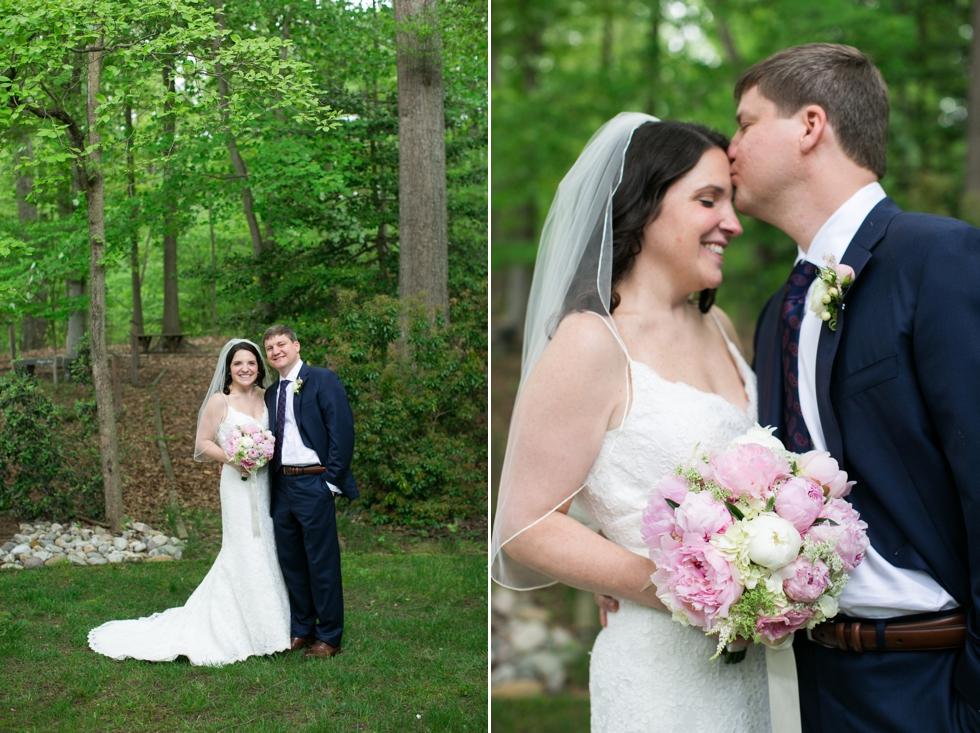 Annapolis Maryland wedding couple portrait- Saint Elizabeth Ann Seton church