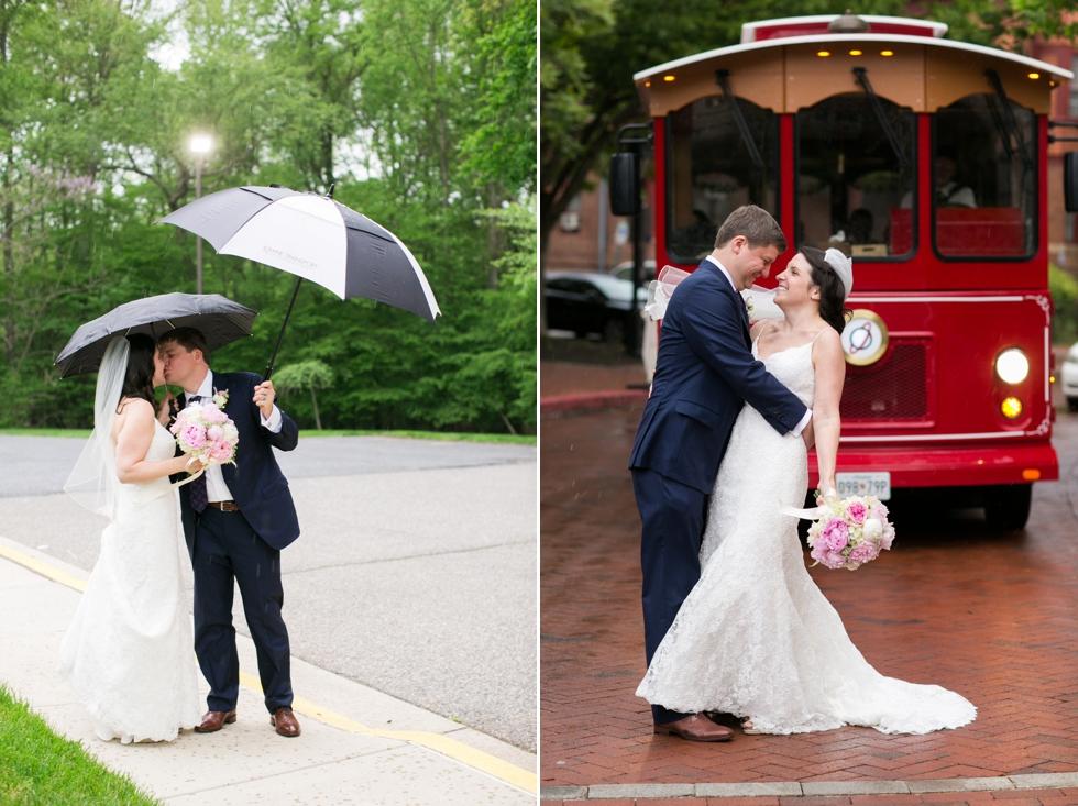 Rainy Annapolis Maryland wedding couple photo - Philadelphia wedding photographer