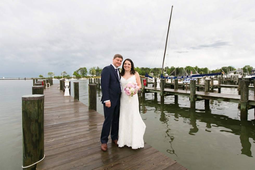 Rainy Annapolis Maritime Museum married couple- Sonata by Anne Barge