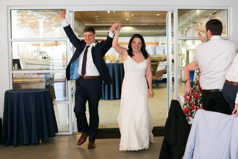 Rainy Annapolis Maritime Museum married couple - Wedding Introductions
