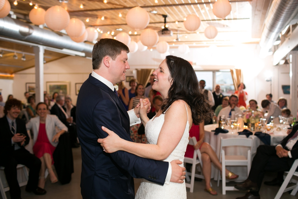 Rainy Annapolis Maritime Museum married couple - Wedding First Dance
