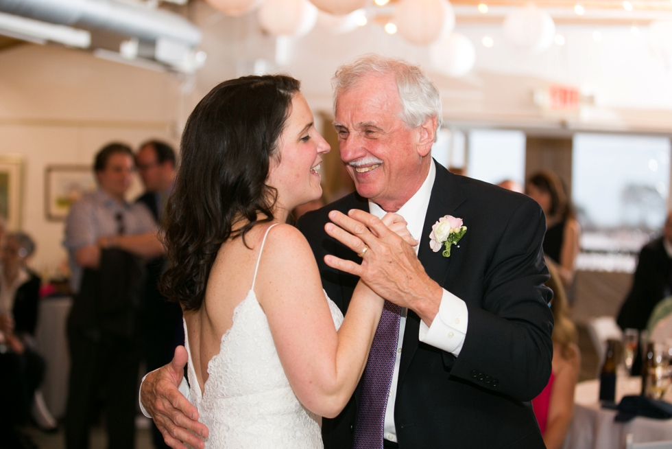 Rainy Annapolis Maritime Museum married couple - Wedding Father Daughter Dance