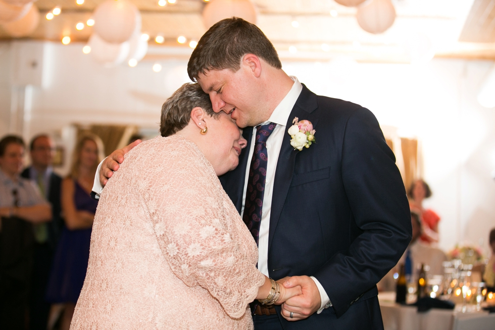 Rainy Annapolis Maritime Museum married couple - Wedding Mother Son Dance