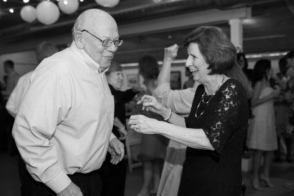 Rainy Annapolis Maryland Maritime Museum wedding reception