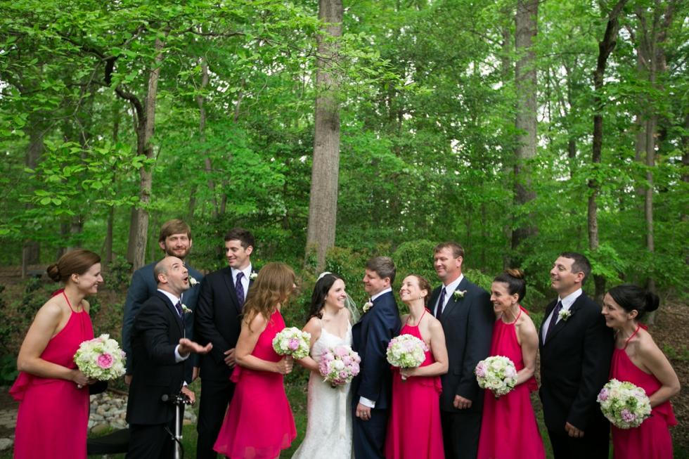 Annapolis Maryland wedding party- Saint Elizabeth Ann Seton church