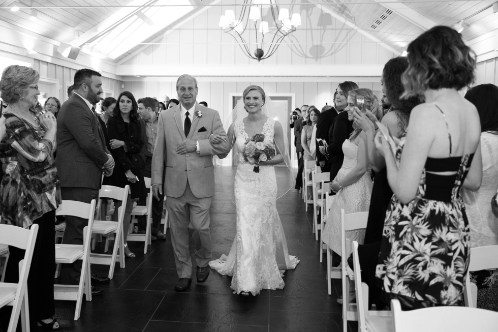 Philadelphia wedding photographer - Chesapeake Bay Beach Club rainy wedding ceremony