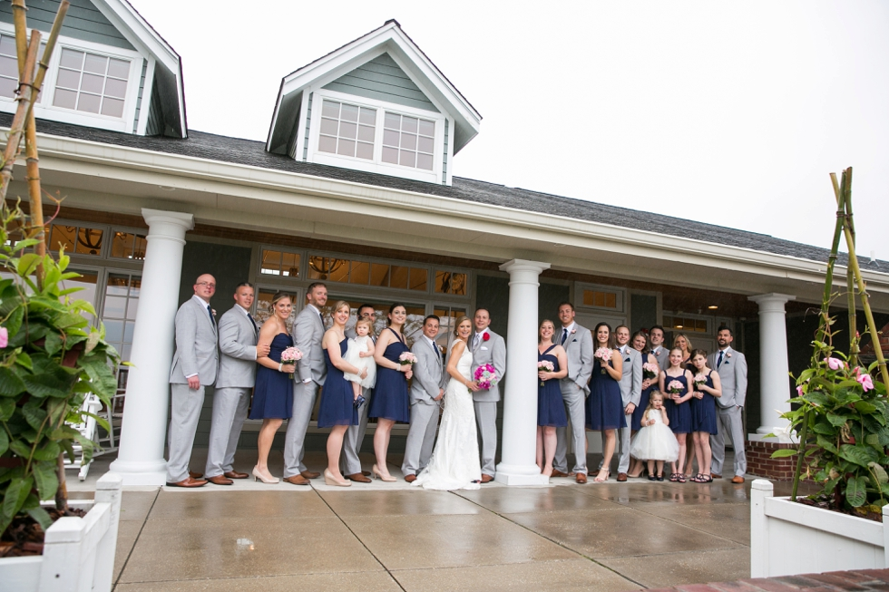 Philadelphia wedding photography - Chesapeake Bay Beach Club rainy wedding party photos