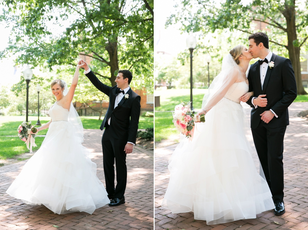 Annapolis MD St Johns College Wedding First Look - Maria Jeff