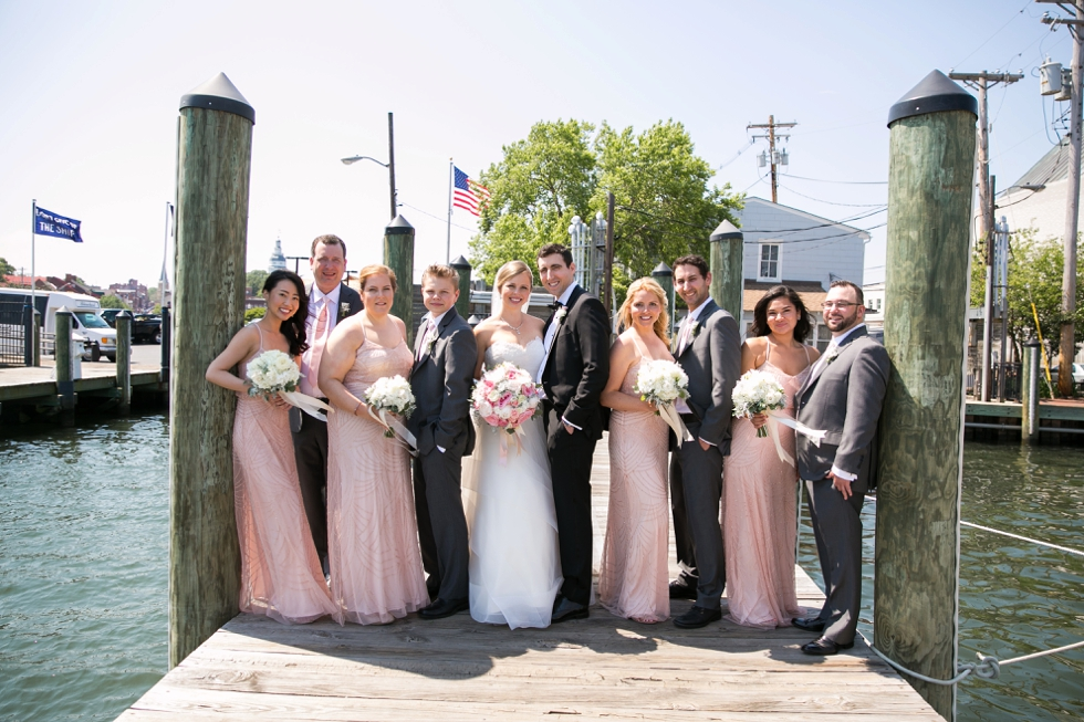 Annapolis City Dock wedding photography - Center city wedding photographer