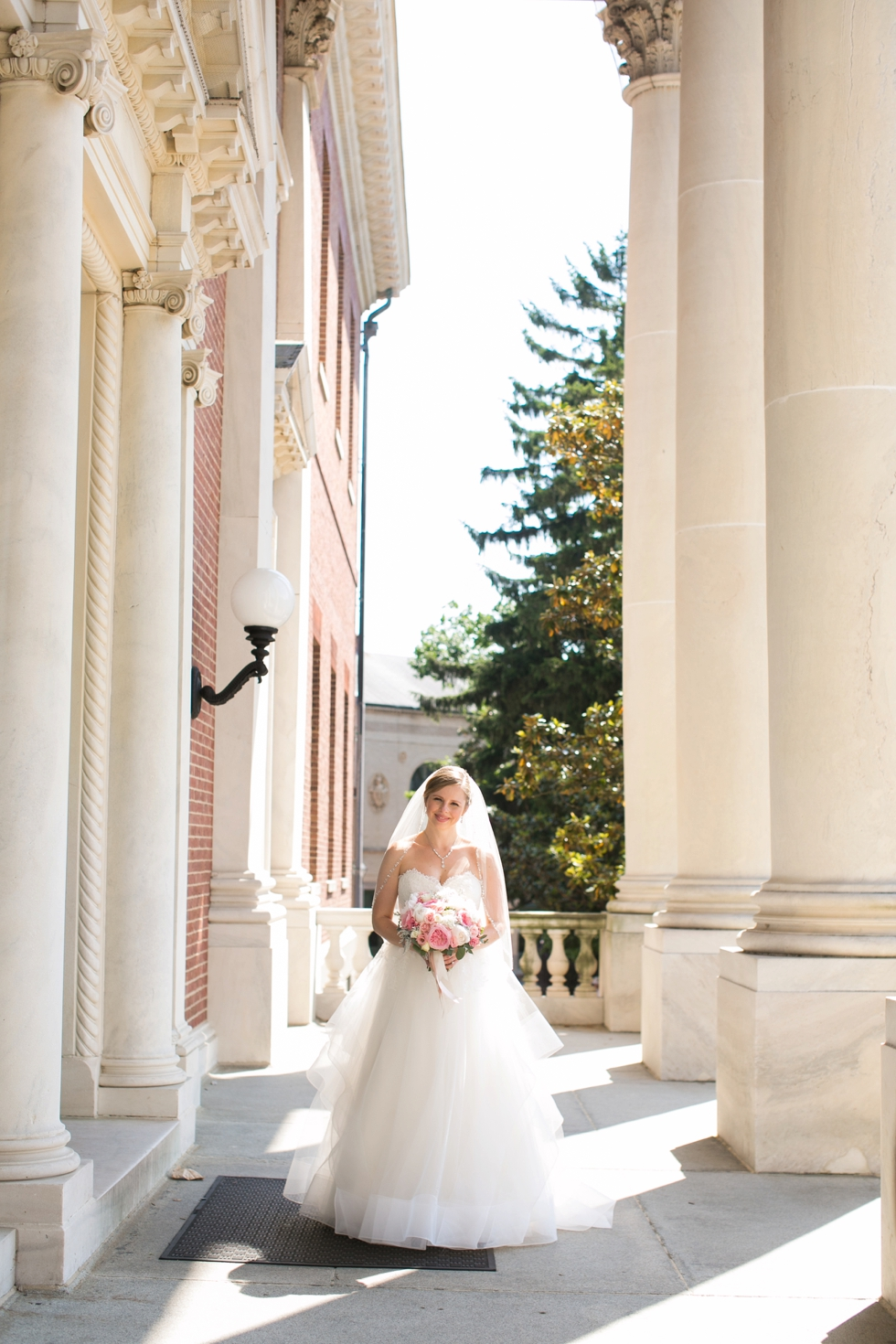 St Johns College Annapolis bridal portrait