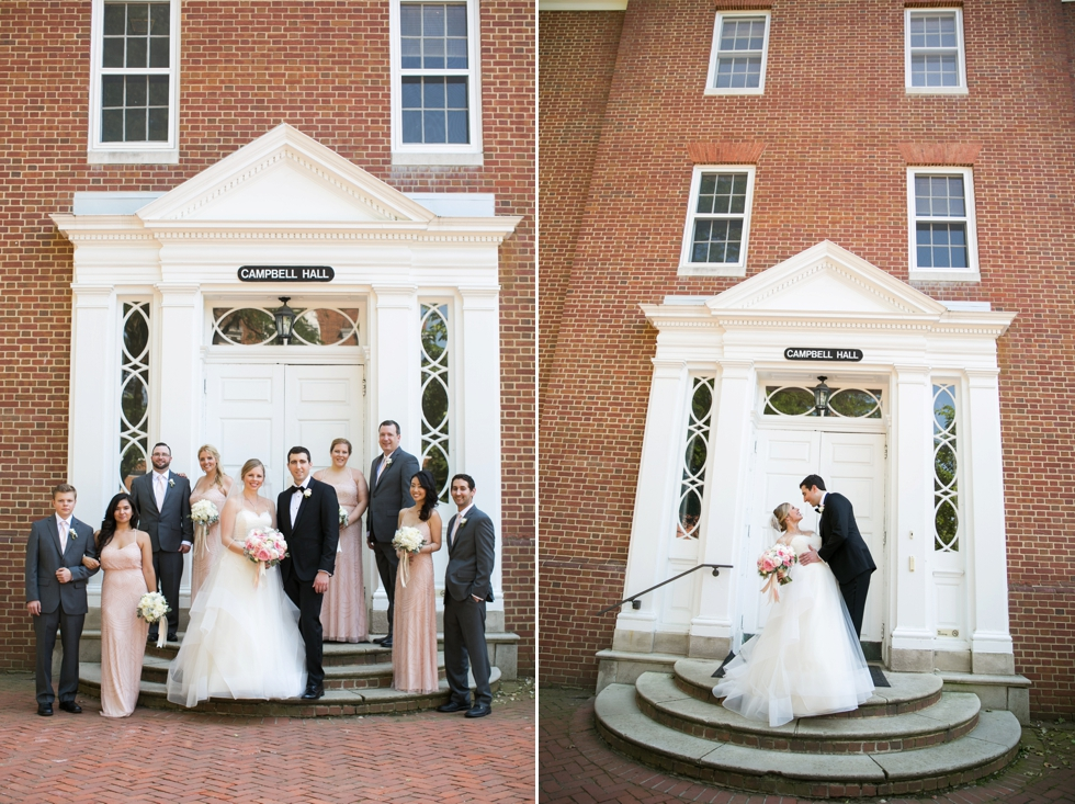 St Johns College Campbell Hall wedding photos - Philadelphia wedding photographers