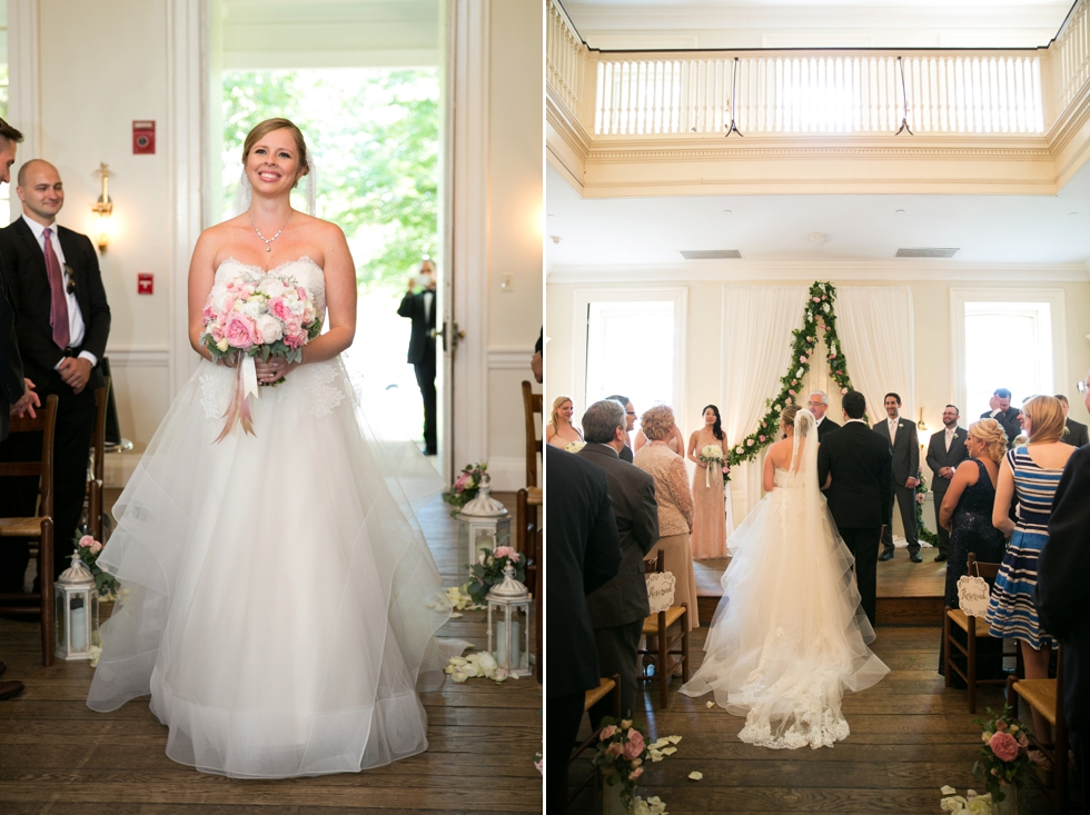St Johns College McDowell Hall ceremony - Philadelphia wedding photographers
