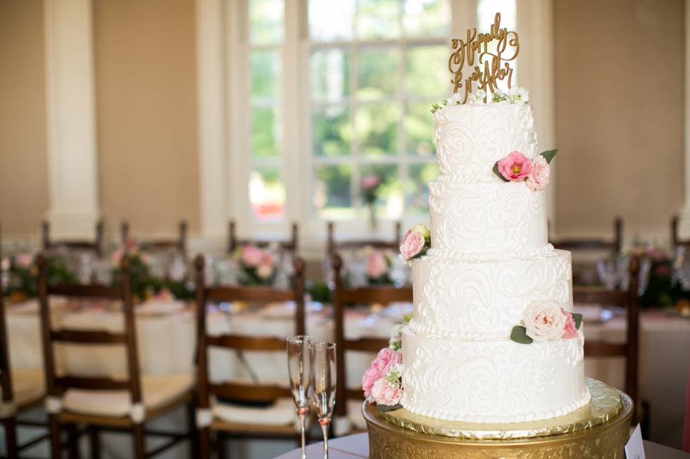 Annapolis MD St Johns College Randall Hall Wedding Reception Details - Cakes by Rachael
