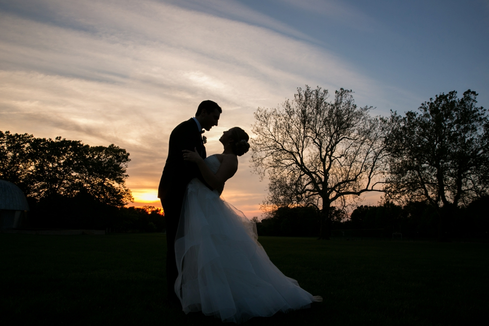 St Johns College Randall Hall sunset wedding pictures