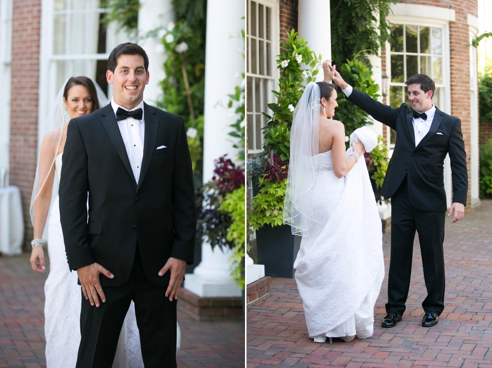 Having a First Look - Eastern Shore Wedding Photography