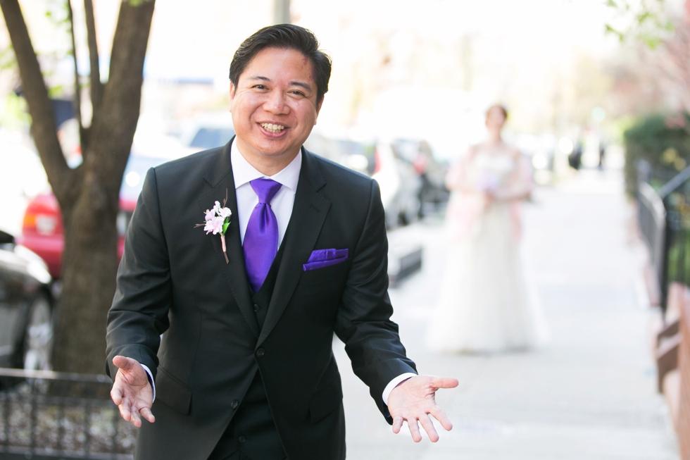 Having a First Look - Wedding Photographers in Washington DC