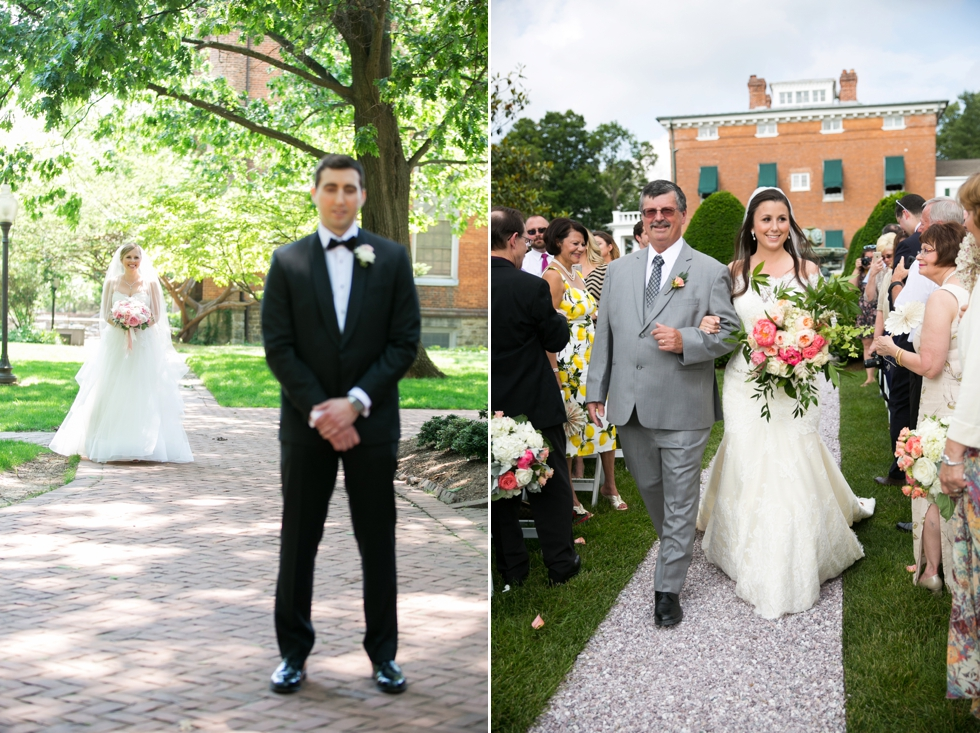 Having a First Look - Wedding Photographers in St Johns College Annapolis
