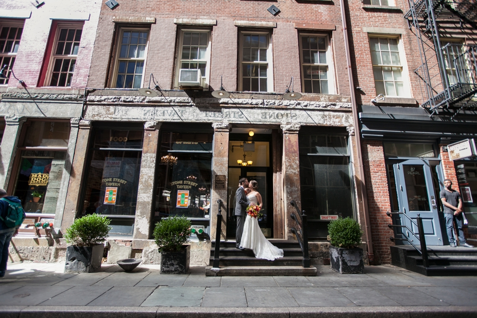 Having a First Look in NYC wedding - Wedding Photographers in NYC
