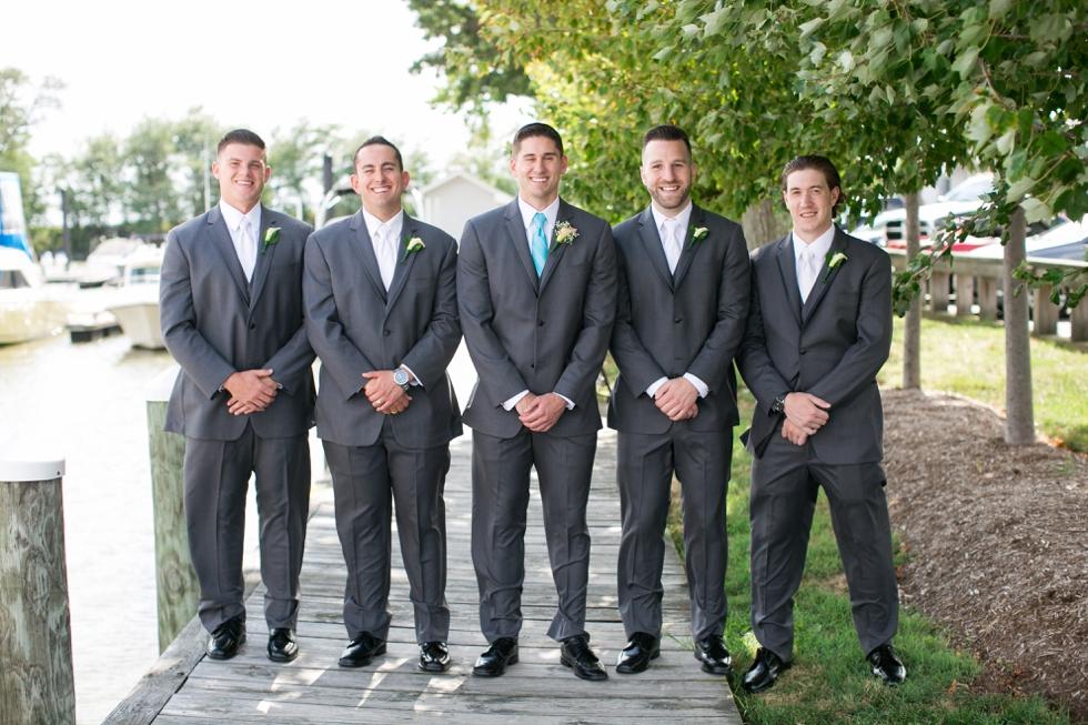 Chesapeake Bay Wedding photographer - Silver Swan Bayside groomsmen
