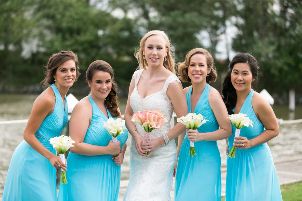 Chesapeake Bay Wedding photographer - Silver Swan Bayside beach bridesmaids