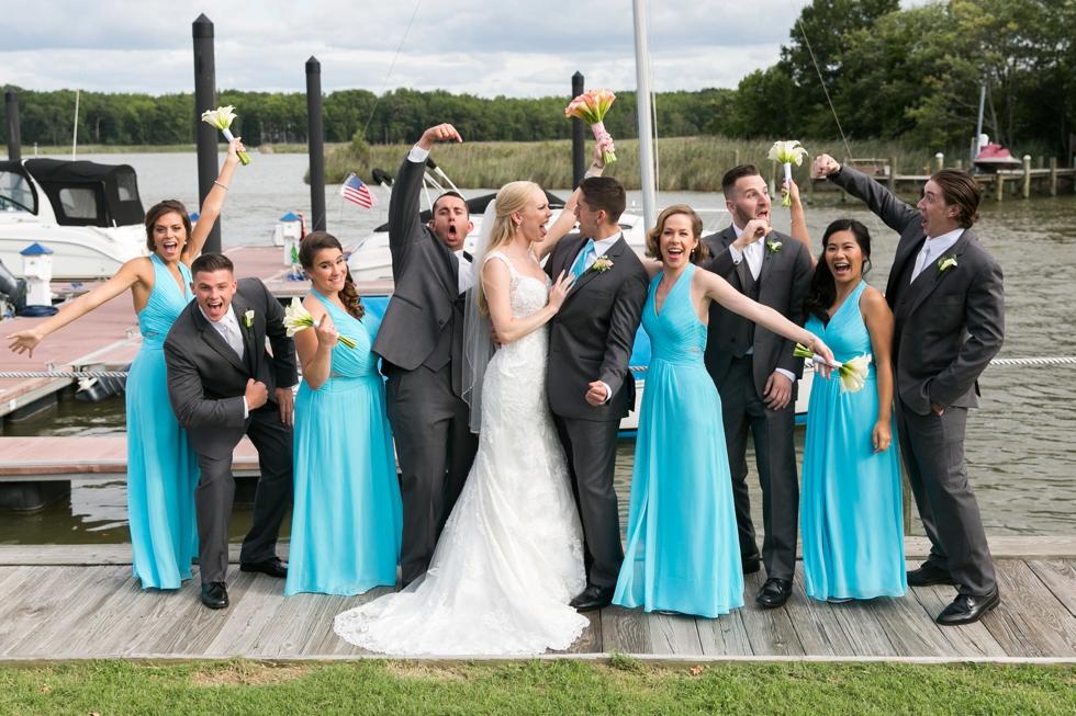 Chesapeake Bay Wedding photographer - Silver Swan Bayside Wedding party