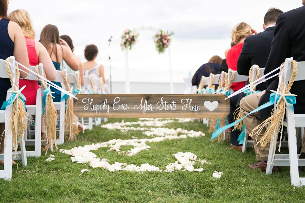 Chesapeake Bay Wedding photographer - Silver Swan Bayside Waterfront ceremony