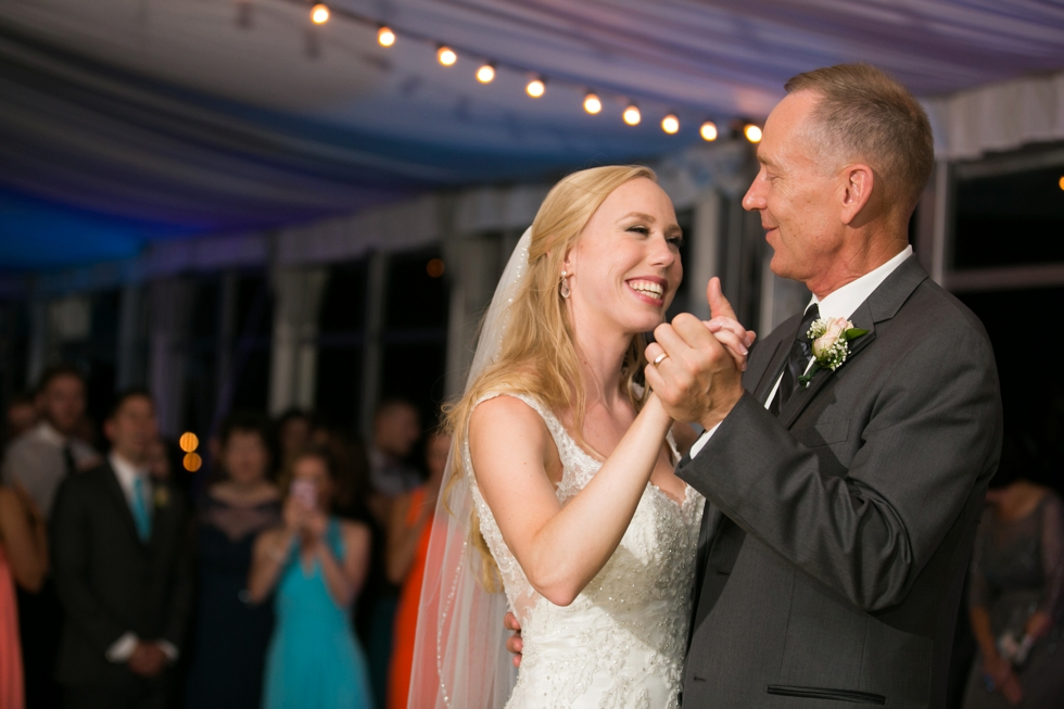 Eastern Shore Wedding Photographer - Silver Swan Bayside Father daughter dance