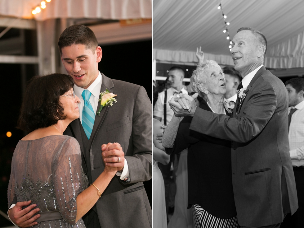 Eastern Shore Wedding Photographer - Silver Swan Bayside mother son dance