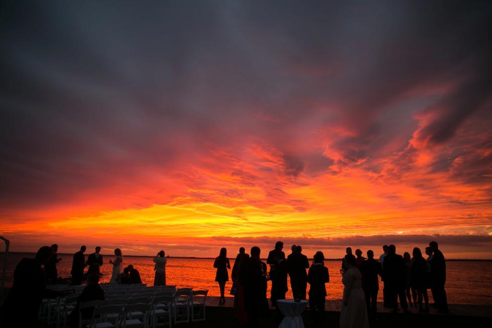 Jersey Shore Wedding Photographer - Hurricane Hermine Sunset beach photos