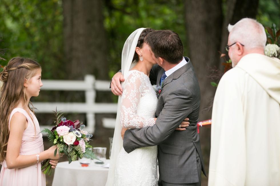 Outdoor Ranch Ceremony - Philadelphia Farm Wedding Photography