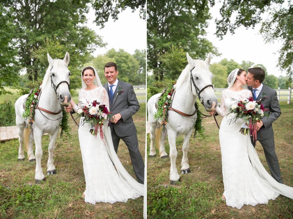 Timberlake Farm Wedding Photographer - Wedding Horse
