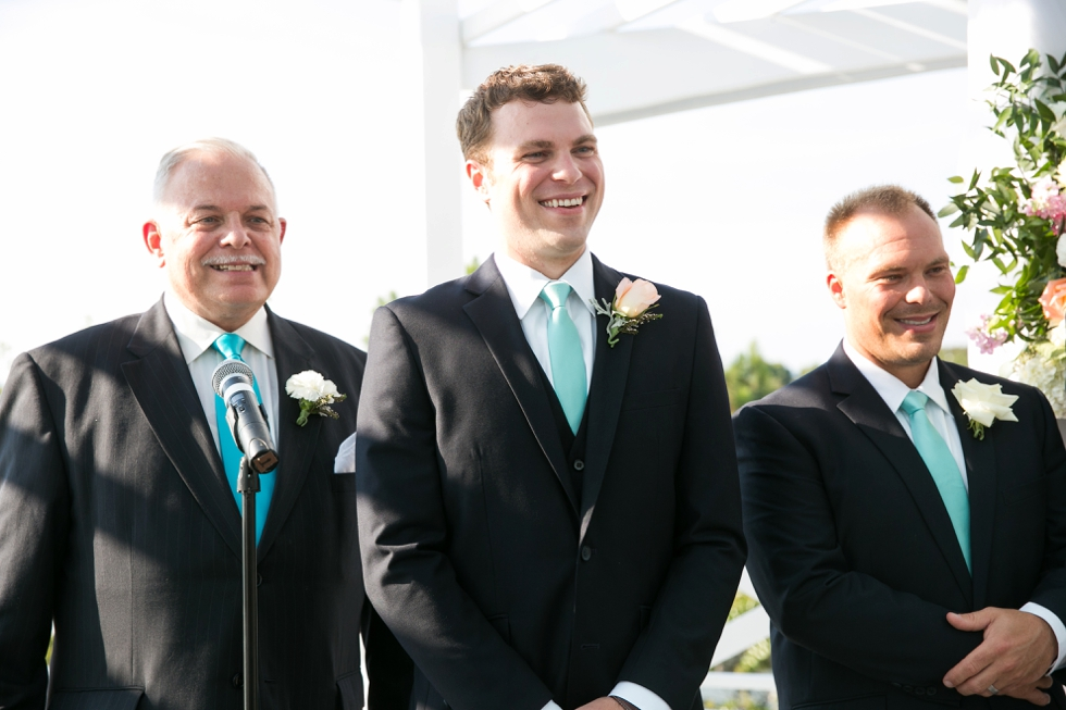 The Inn at the Chesapeake Bay Beach Club Wedding Photographs - Sunset Ballroom Ceremony