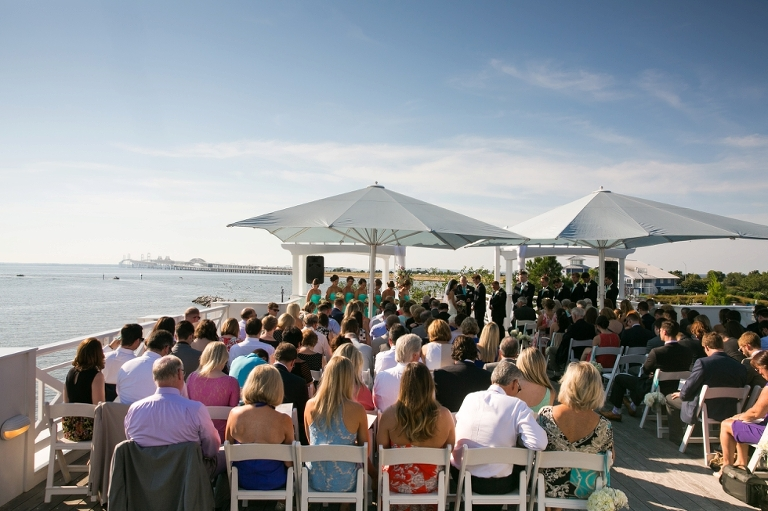 The Inn At Chesapeake Bay Beach Club Wedding Photographs Sunset Ballroom Ceremony