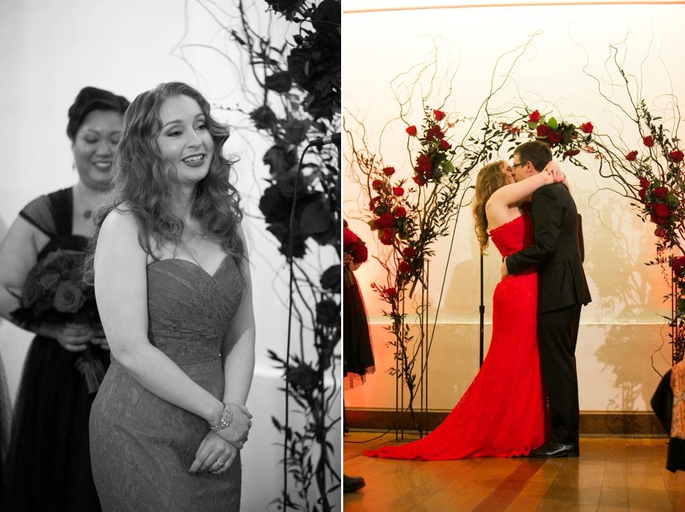 Traveling Bucks County wedding photographers - Indoor Rainy Wedding