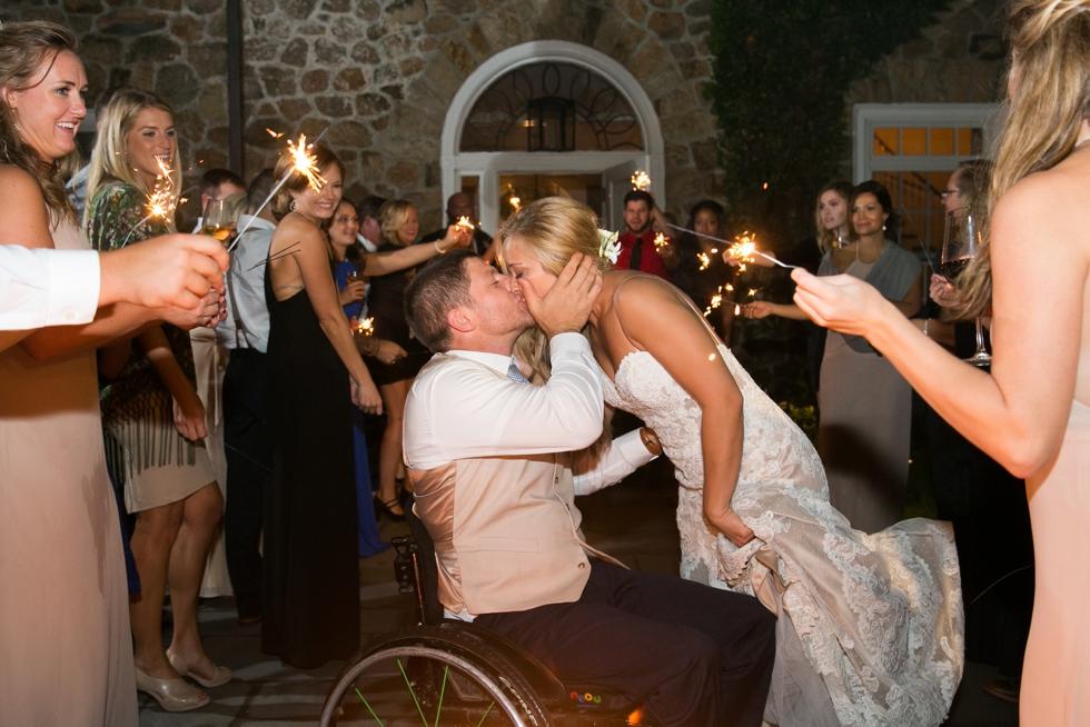 Philadelphia Wedding Photographers - Fiddlers Elbow Country Club Wedding Sparkler Exit