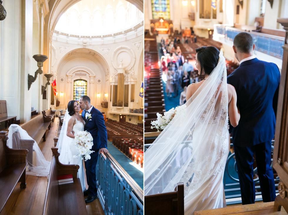 United States Naval Academy Chapel Wedding Ceremony - Jade and David Kircus