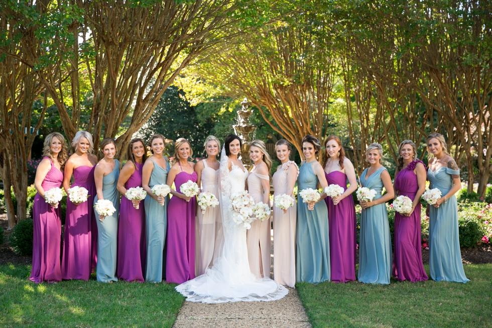 US Naval Academy Buchanan House gardens bridesmaids - Jade and David Kircus