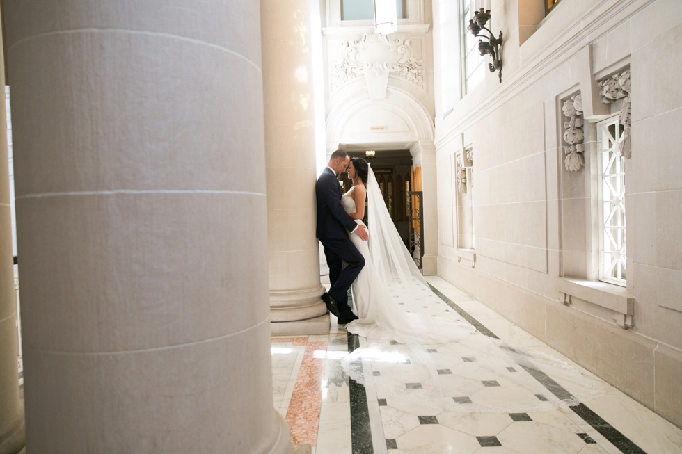 US Naval Academy Bancroft Hall rotunda - Pronovias Dress
