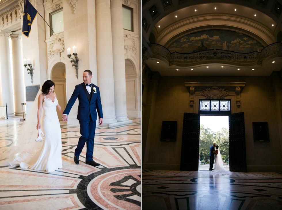 US Naval Academy Bancroft Hall Rotunda - Pronovias bride