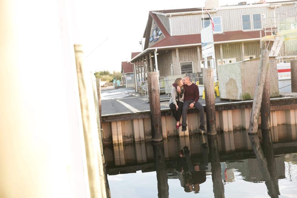Barnegat Viking Villiage Engagement Photographs - Barnegat Light NJ Ferry