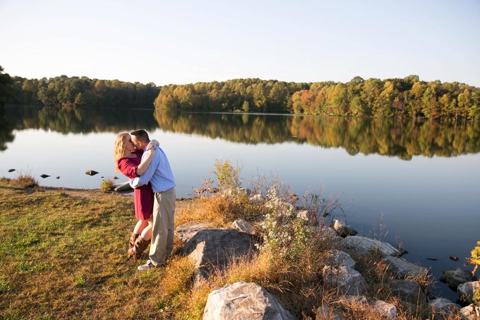 Lake Centennial Park - Fall Philadelphia Engagement Photographer