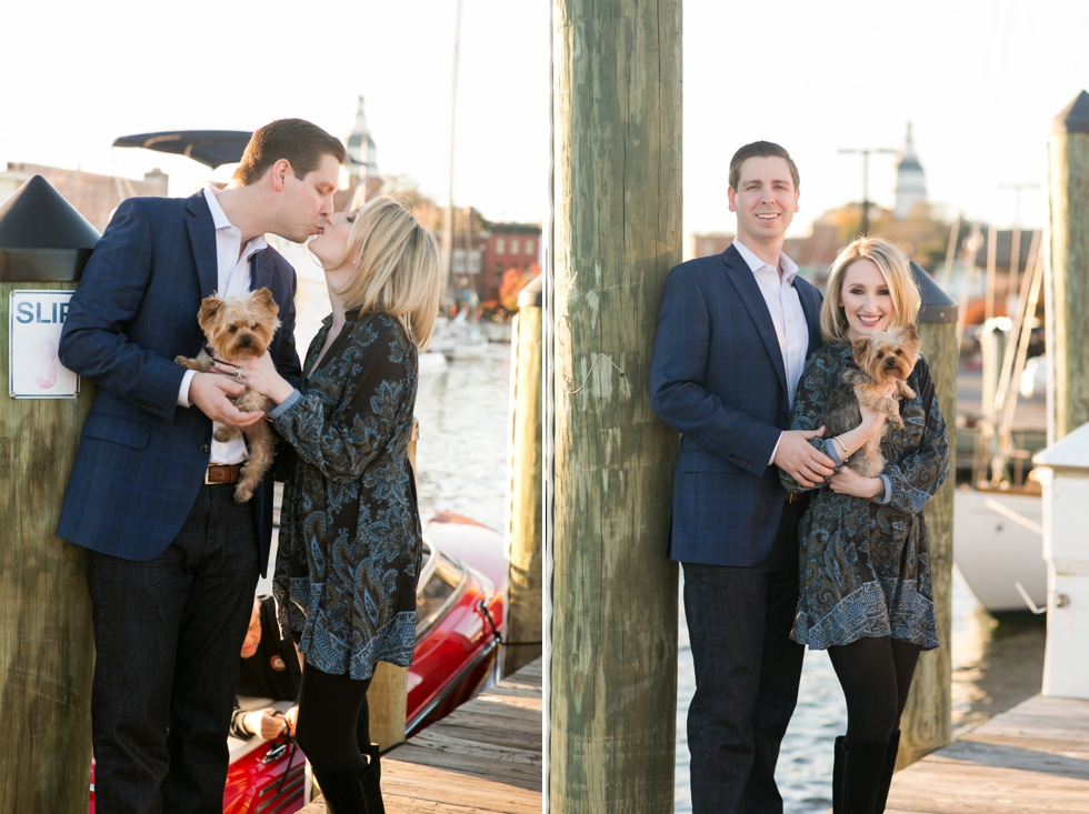 Fall Annapolis Anniversary Photos with Yorkie