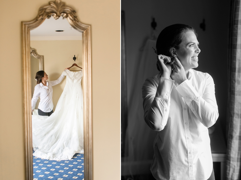 Tidewater Inn Easton MD - Bride Prep Wedding - Associate Caitlin